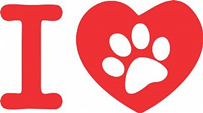 DECOR STICKER I LOVE PET