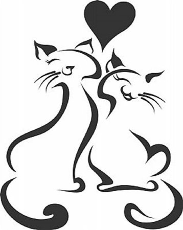 DECOR STICKER LOVE CAT