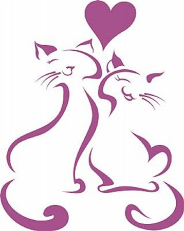 DECOR STICKER LOVE CAT