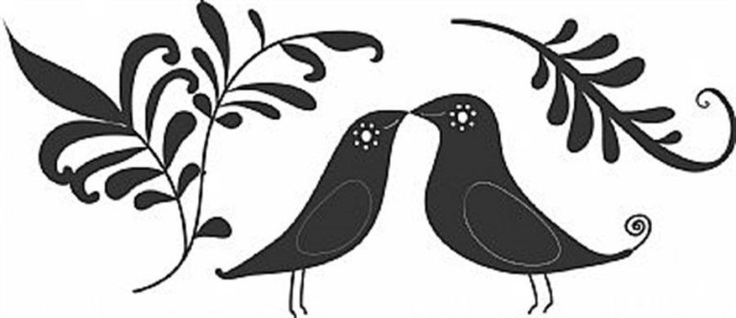 DECOR STICKER BIRDS IN LOVE