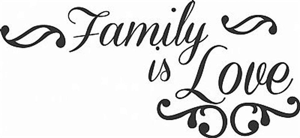 DECOR STICKER FAMILY IS LOVE