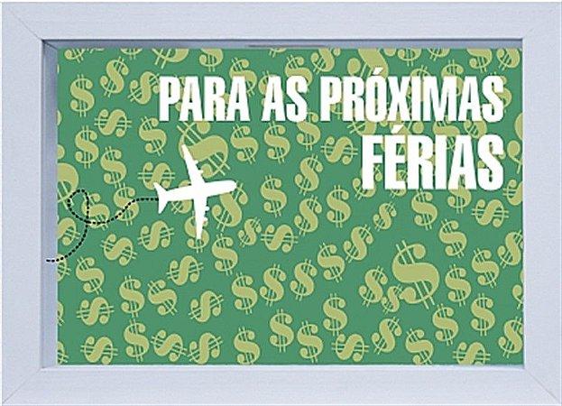 COFRE 15X20CM PARA AS PRÓXIMAS FÉRIAS - BRANCO