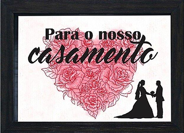 COFRE 15X20CM PARA O NOSSO CASAMENTO - PRETO