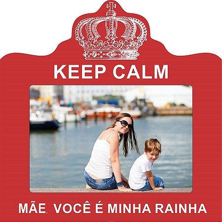 PORTA-RETRATOS DE MESA MÃE VOCÊ É MINHA RAINHA, 20X20CM P/ 1 FOTO 10X15CM