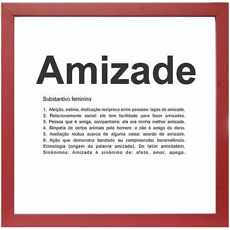 QUADRO AMIZADE VERMELHO