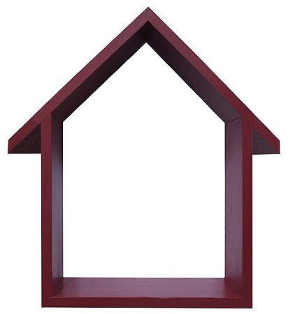 NICHO VERMELHO COM TELHADO HOME SWEET HOME 23X33CM