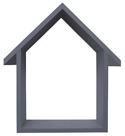 NICHO CINZA COM TELHADO HOME SWEET HOME 23X33CM
