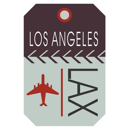 PLACA LOS ANGELES LAX 20X30CM
