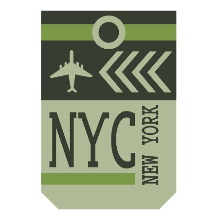 PLACA NYC 20X30CM