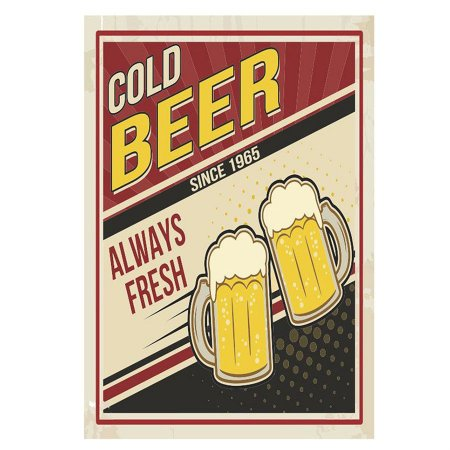 PLACA COLD BEER 20X30CM
