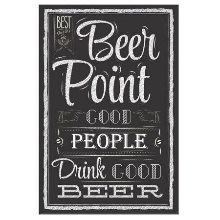 PLACA BEER POINT 20X30CM