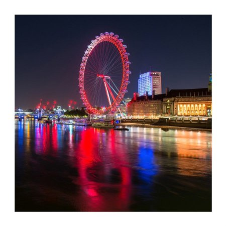 PLACA LONDON EYE 25X25CM