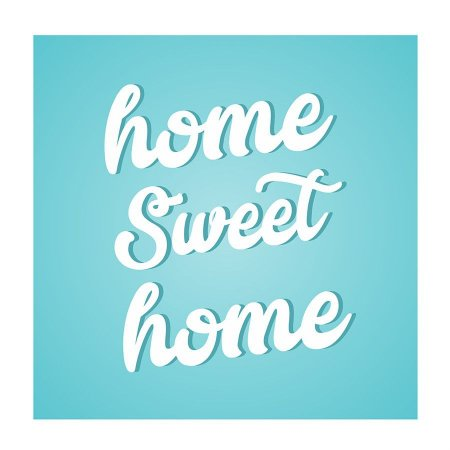 PLACA HOME SWEET HOME 25X25CM