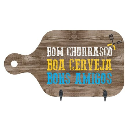 PORTA-CHAVES BOM CHURRASCO 15,5X28CM