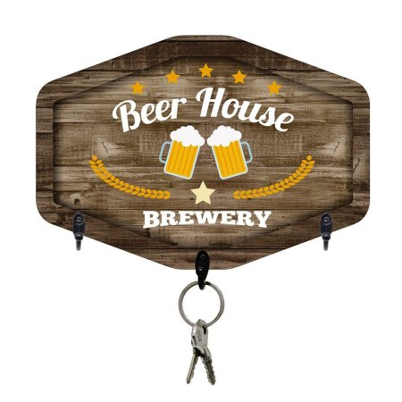 PORTA-CHAVES BEER HOUSE 20X28CM