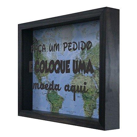 QUADRO COFRE FAÇA UM PEDIDO 22X27CM