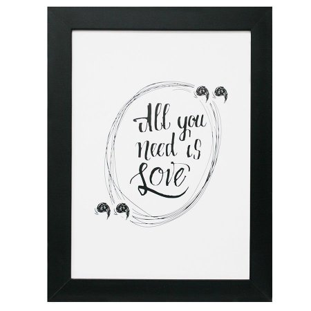 QUADRO ALL YOU NEED IS LOVE 30X40CM