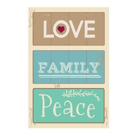 PLACA LOVE FAMILÝ PEACE 20X30CM