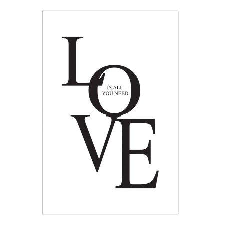 PLACA LOVE IS ALL YOU NEED 20X30CM