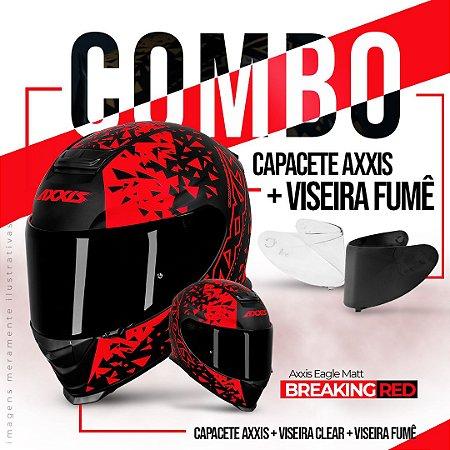 COMBO AXXIS EAGLE BREAKING RED E VISEIRA FUMÊ