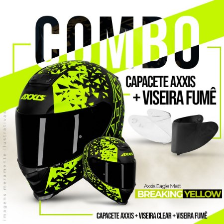 COMBO AXXIS EAGLE BREAKING YELLOW E VISEIRA FUMÊ