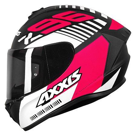 CAPACETE AXXIS DRAKEN Z96 MATT BLACK/PINK/WHITE