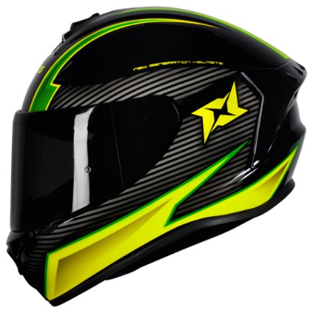 CAPACETE AXXIS DRAKEN TRACK GLOSS BLACK/GREEN