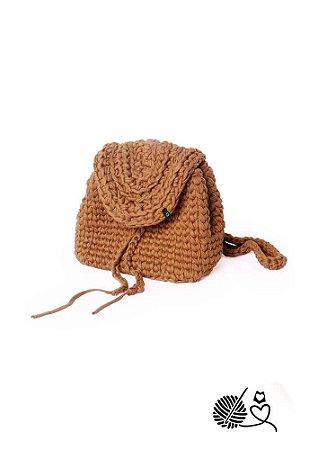 Mochilinha crochet   Colab crochet por amor