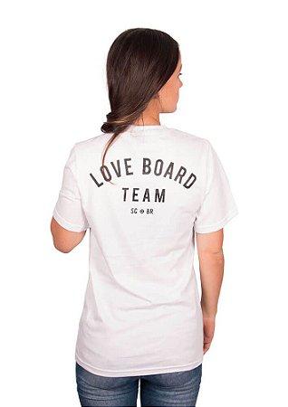 Camisetão loveboard team branco