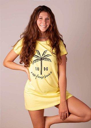Vestido amarelo coqueiro tudo vai ficar bem