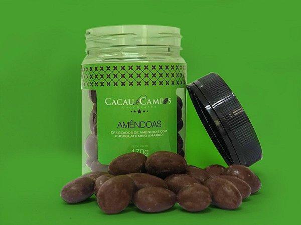 Drágea de amêndoas com chocolate meio amargo - 170g