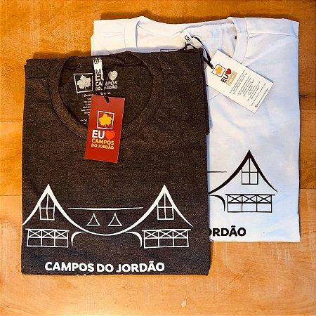 Camiseta cinza tema portal - Campos do Jordão