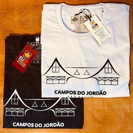 Camiseta branca tema portal - Campos do Jordão