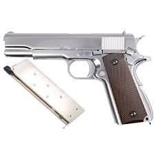 Pistola Airsoft 1911 WE GBB Mate Chrome 6mm - Full Metal