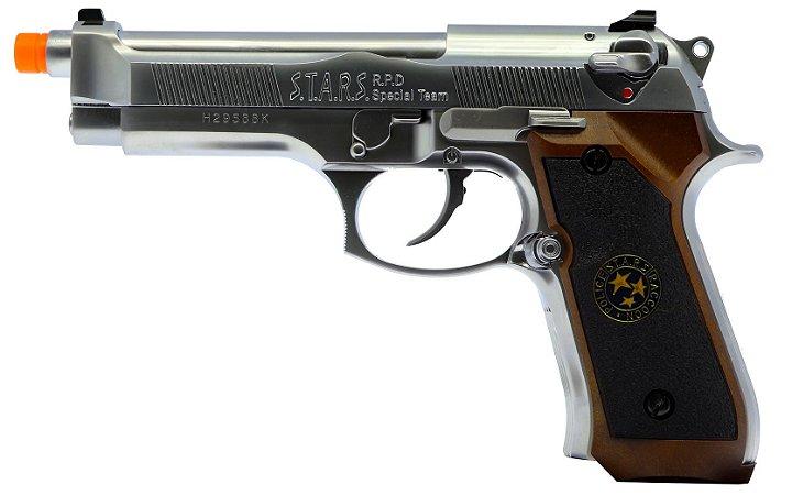Pistola Airsoft M92 WE Samurai Edge Chrome GBB 6mm - Full Metal
