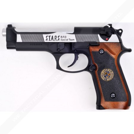 Pistola Airsoft M92 WE BioHazard Dual Tone GBB 6mm