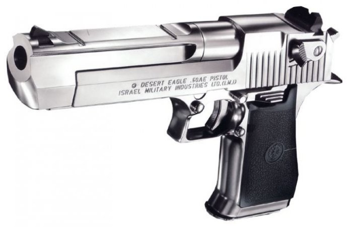 Pistola Airsoft Desert Eagle .50 Hard Kick Chrome Stainless Tokyo Marui GBB 6mm