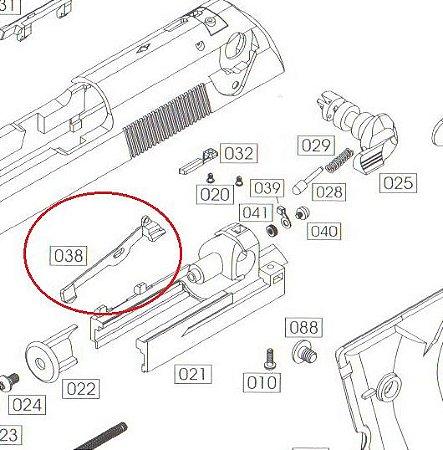 Alavanca Full Auto M92 We Gen2 GBB - Part 038