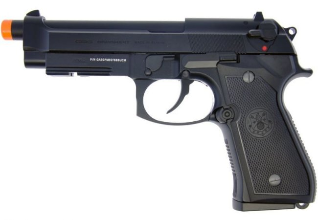 Pistola Airsoft M92 Black G&G GBB 6mm - Full Metal