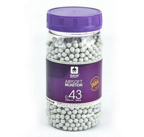 Esferas Spartan 6mm 0,43 gramas - 2.000 unidades