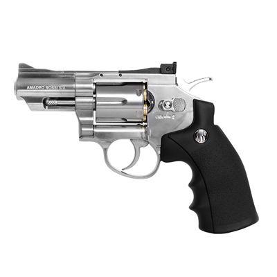 """Revólver Airgun WG Rossi 708S 2,5"""" Niquelado Co2 4,5mm - Full Metal"""
