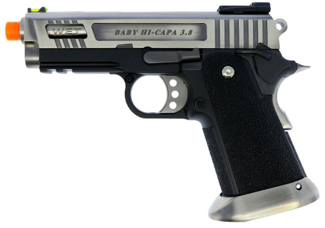 Pistola Airsoft Hi-capa 3.8 Velociraptor SV WE GBB 6mm