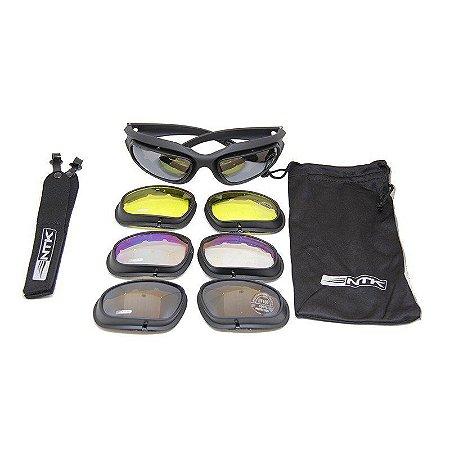 Óculos Tático de Proteção Tarek 4 lentes