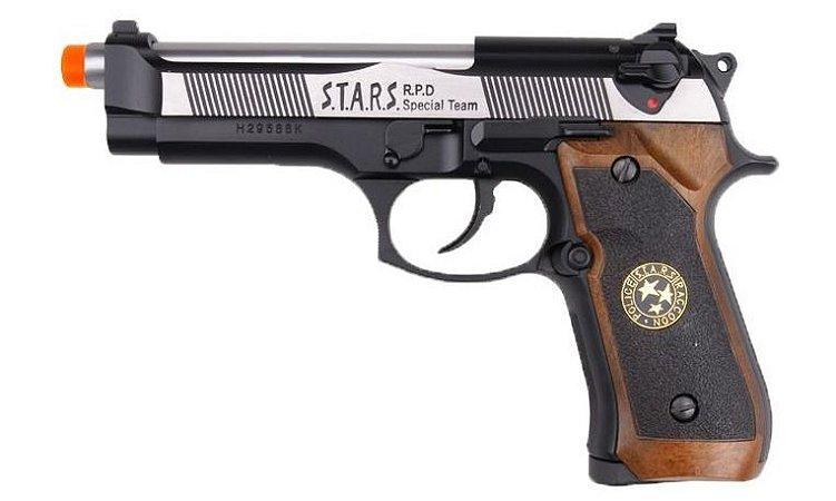 Pistola Airsoft M92 WE BioHazard Dual Tone Gen. 2 GBB 6mm - Full Metal