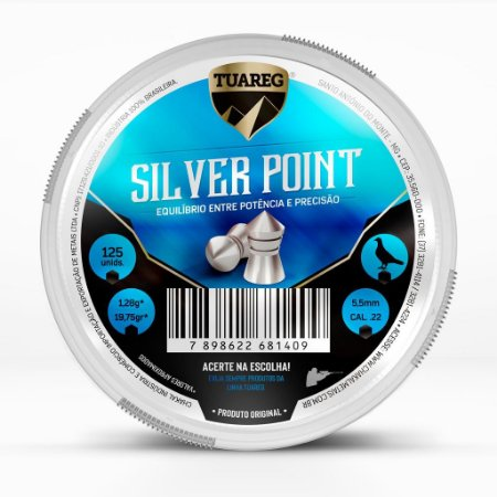 Chumbinho Tuareg Silver Point 5,5mm - 125 unidades