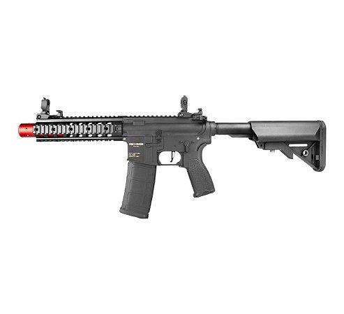 "Rifle Airsoft Elétrico AR15 Neptune 8"" SD Rossi - Gatilho Eletrônico"