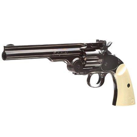 Revólver Airgun Schofield Co2 4,5mm - Full Metal