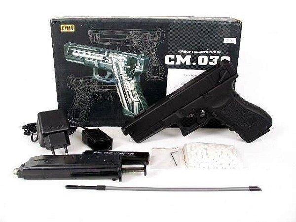 Pistola Airsoft Glock 18c Elétrica 6mm - Cyma