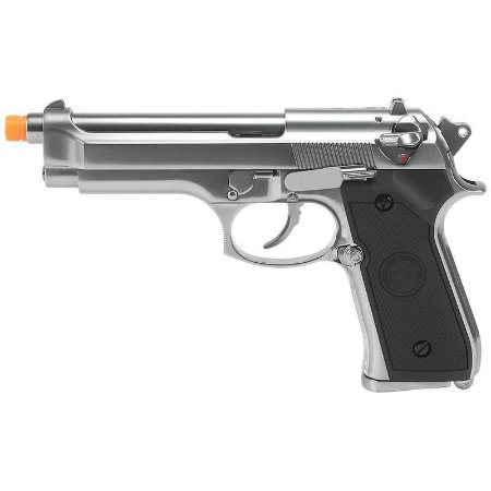 Pistola Airsoft M92 WE GBB Chrome 6mm - Full Metal