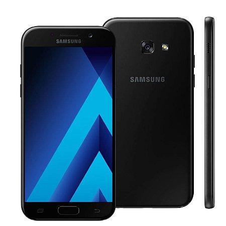 Smartphone Samsung Galaxy A5 2017 A520F Preto Dual Chip Android 6.0 4G Wi-Fi Câmeras Traseira 16MP e Frontal 16MP
